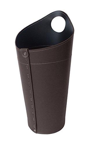 NIDAC: Kaminbesteck Behälter aus Leder Farbe Dunkel braun