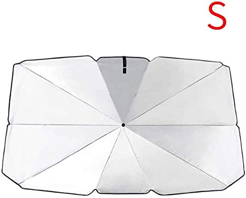 WOOPOWER Car Front Sunshade Protection Cover, Car Sunscreen Insulation Sun Shade Umbrella Front Windshield Car Summer Sunscreen Cooling Sunshade Protection (S: 49x43x26inch)