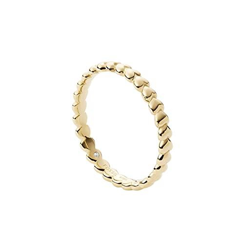 Fossil Damen Ring Edelstahl goldfarben, JF03751710