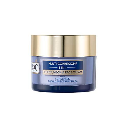 Roc Multi Correxion 5 in 1 Chest, Neck & Face Cream with SPF 30, Hexyl-R Complex & Vitamin E, 1.7 Ounces