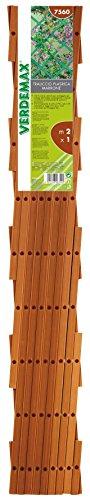 Verdemax 7559 - Celosía Extensible (1 x 1 m, PVC), Color marrón