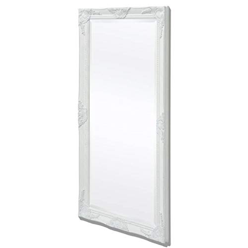 vidaXL Espejo de pared estilo barroco 120x60 cm blanco