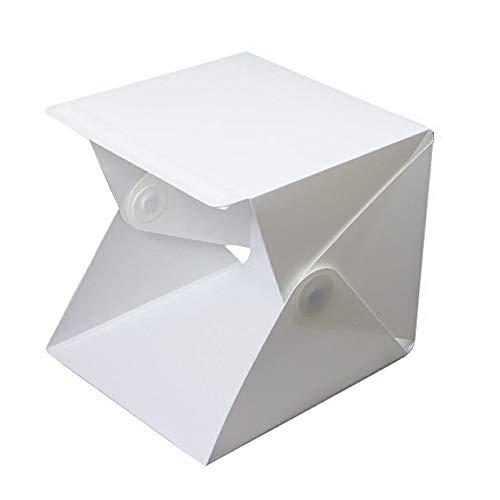 ZXYWW Caja de luz para fotografiar la Carpa de Tiro, Caja de Estudio fotográfico portátil con 35 Piezas de luz LED para joyería y artículos pequeños.