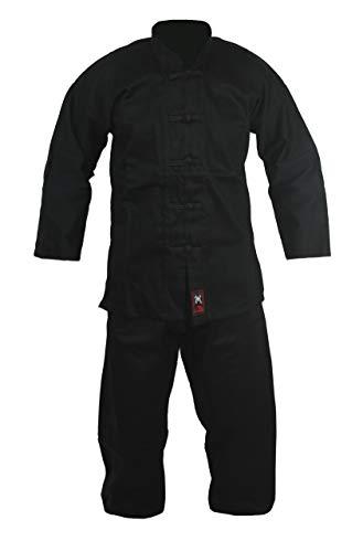 Budodrake Kung-Fu Anzug Kinder schwarz (150)