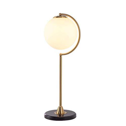 GUOCAO Luz Iluminación decorativa, Reading lámpara- de noche y lámparas de mesa lámpara de mesa de noche de la bola dormitorio de la lámpara simple lámpara de mesa de hierro forjado Inicio de boda de