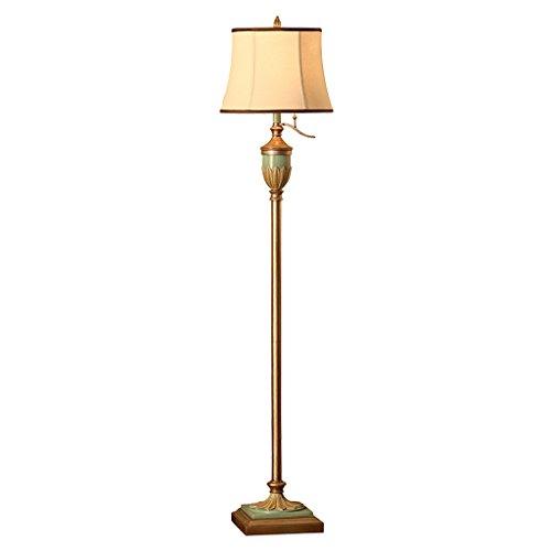 ZHDC® Stehlampe, American Style Wohnzimmer Schlafzimmer Nachttisch europäischen retro mediterranen Dorf vertikale Stehleuchte Höhe 164cm Stehlampe