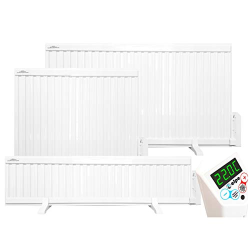 ELPE Oil Filled Electric Radiator Heater Wall Mounted or Portable with LCD Thermostat (2000W - 1140mm x 600mm*)