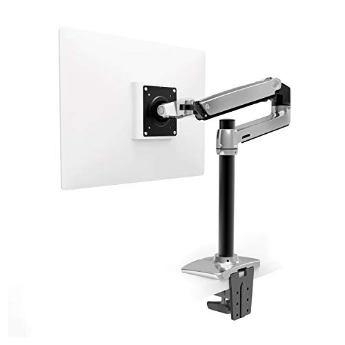 Ergotron – LX Desk Monitor Arm, Tall Pole – 25-Inch Extension, Polished Aluminum