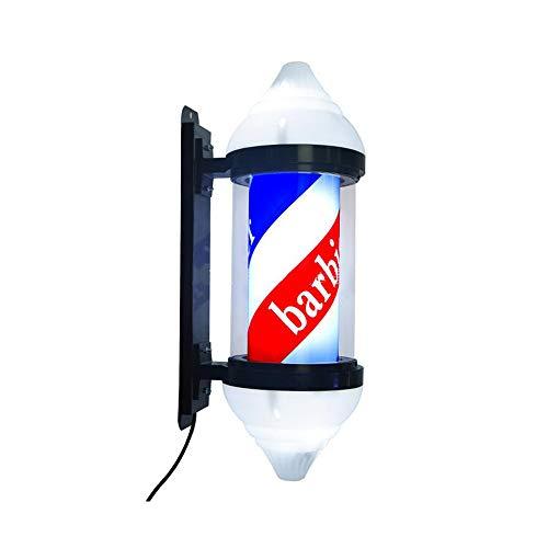 LuzGiratoria Barbier Coiffeur LED Poteau de Enseigne Lampe Salon Équipement Poteau de Barbier Professionnel, sans Sphère Lumineuse,Tuyau de PC,60cm*26cm
