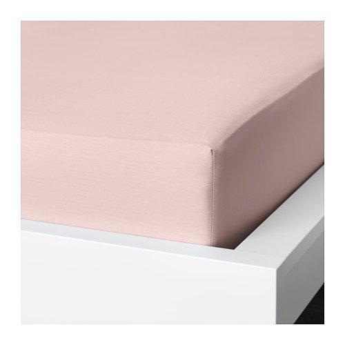 Ikea Dvala Fitted Sheet Light Pink 303.494.09 King