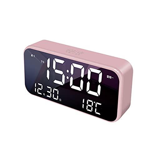 Reloj de escritorio Reloj electrónico de carga escritorio reloj de pared reloj de reloj de pared dormitorio casero decoración de noche escritorio escritorio pequeño reloj 8,66 pulgadas Reloj de mesa
