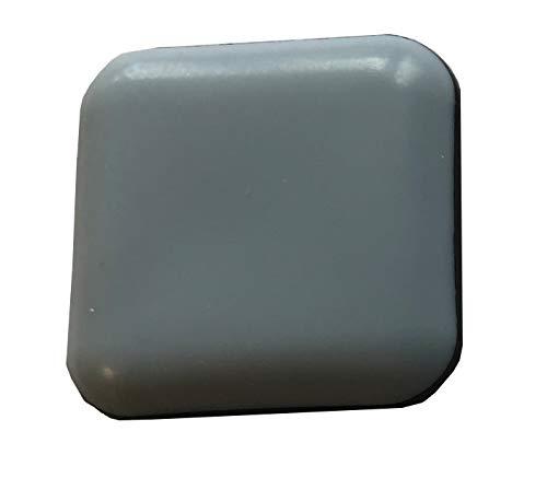 16 Stück Teflongleiter, Möbelgleiter Bodenschutz, hell grau, 40 x 40 mm, quadrat, selbstklebend, Stuhlgleite.