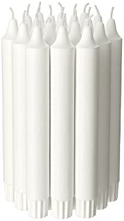 Ikea Candle Chandelier Stick (20 Pack) Unscented White, 7.5