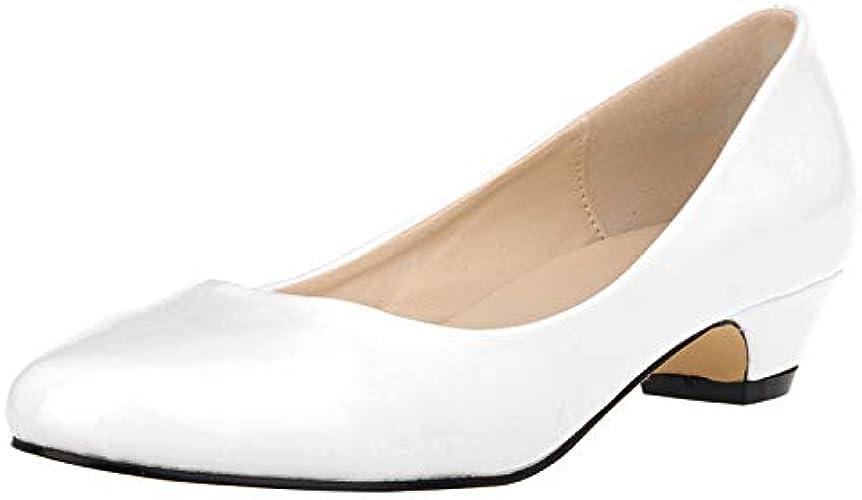 FLYRCX Mode Simple Bouche Peu Profonde a souligné Couleur Douce Talon Bas Chaussures Simples Les Les Les dames Chaussures de Travail de Bureau