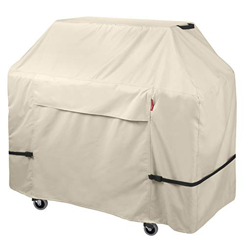Porch Shield Premium Grill Cover - Waterproof Heavy Duty 600D Oxford BBQ Cover Up to 58 inch, Light Tan