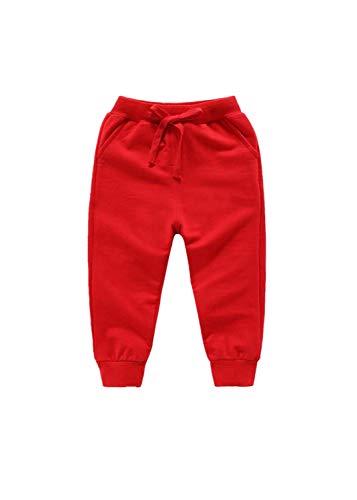 Ucoolcc Baby Pants - Baby Kinder Jungen Mädchen Winter Warme Schleife Lose Einfarbig Freizeit Hosen Jogginghose für 6 Monate - 7 Jahre