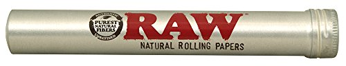 RAW Thentic Cigar Style Aluminum Tube, Silver
