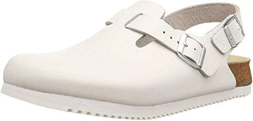 Birkenstock Women's Clogs and Mules, White Weiß, US 8.5