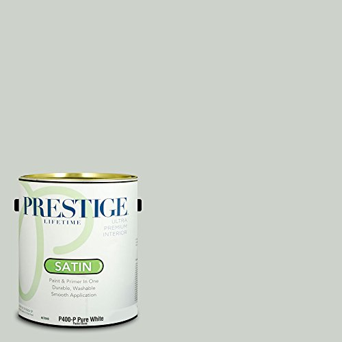 Prestige Paints P400-P-SW6204 Interior Paint and Primer in One, 1-Gallon, Satin, Comparable Match of Sherwin Williams Sea Salt, 1 Gallon, SW189-Sea