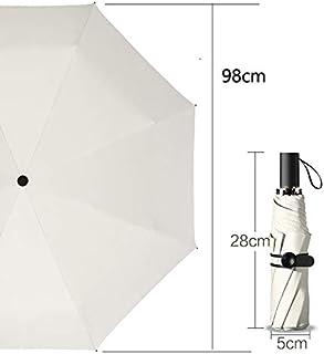LPKH Umbrella Folding Umbrella CompactSun Umbrella&RainUmbrella - Lightweight Portable Outdoor Windproof & UV Protection Umbrella (Color : Beige)