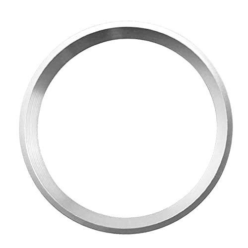 BaiShengJiang Pegatina de Ajuste de la Cubierta del Anillo del círculo del Volante del Coche/Ajuste para -Mercede Benz W169 A160 A200 A180 A220 A250 2016-2019 / (Color Name : Silver)