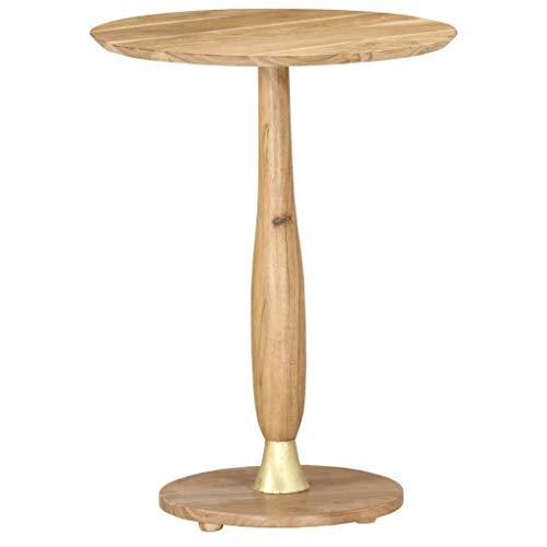 Festnight Beistelltisch Bistrotisch Balkontisch Glastisch Gartentisch Stehtisch Bartisch Tisch Partytisch für Garten, Terrasse und Balkon 45 cm Massivholz Akazie