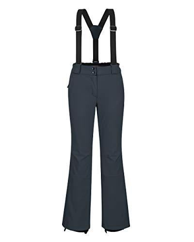 Outdoor Ventures Women's Ski Snow Bib Pants Warm Insulated Waterproof Snowboard Softshell Pants with Detachable Bib Dim Grey