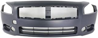 Crash Parts Plus Primed Front Bumper Cover Replacement for 2009-2014 Nissan Maxima