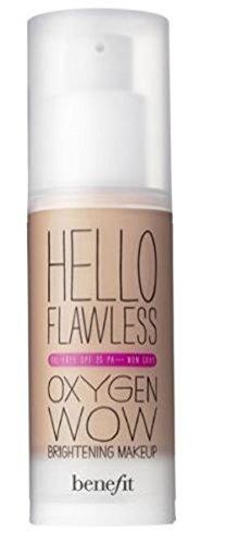 "Fondotinta liquido ""Hello Flawless Oxygen Wow"" – Benefit (Warm me Toasted – beige)"