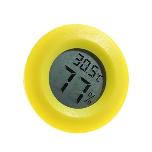 Mingtongli Práctica Cubierta Ronda termómetro higrómetro Digital de Temperatura Medidor de Humedad Relativa Pantalla LCD