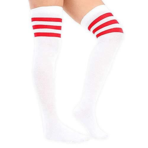 adam und eesa 3 Paare Damen Frauen über dem Knie färbten 3 gestreifte Socken Schenkel hohe Strümpfe Großbritannien 4-6.5