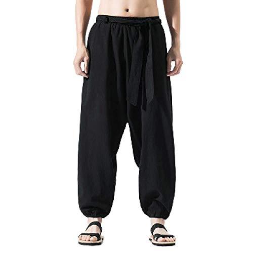 Pantalones Tai Chi Pantalones de Artes Marciales para Hombre Pantalones de Lino...