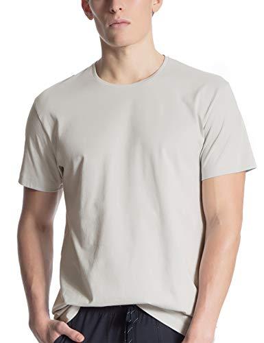 CALIDA Herren Remix Basic T-Shirt, Grau (Fog 850), X-Large (Herstellergröße: XL)