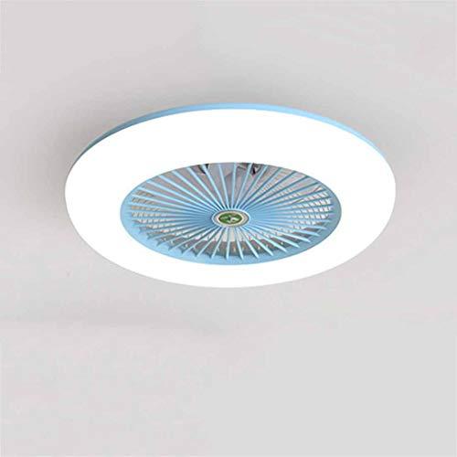Ventilador de techo con iluminación, ventilador de techo, luz LED, velocidad de viento ajustable, regulable, con mando a distancia, 36 W, lámpara de techo LED moderna para dormitorio, sala de estar
