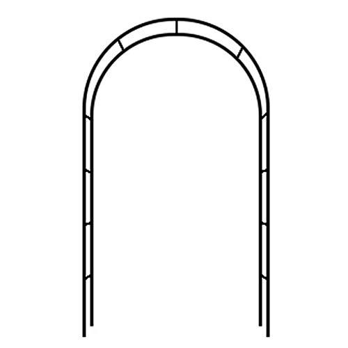 Mink - Arco de jardín de Metal, Hierro Forjado, Arcos de Rosas, Marco para trepar, especificaciones Variables, Gratis y fácil de Montar, Utilizado para Porche, casa de Flores, Patio, balcón de céspe