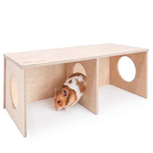 Niteangel Hamster Secret Peep Shed 2-Chamber Hideout & Tunnel Exploring Toys (Large - for Syrian Hamster)