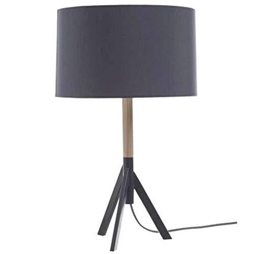 Paris Prix Atmosphera Créateur d'intérieur - Lampe à Poser Trépied en Bois & Métal Elot 54cm Gris