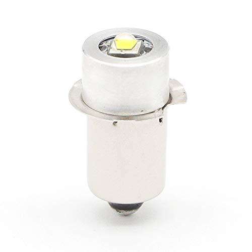 3v 6v 9v 12v 18v 24v Volt Led Flashlight Bulb Led Upgrade Bulb for Ryobi Milwaukee Craftsman 3-24 Voltage Lamp Maglite Flashlight DC Replacement Bulbs Led Conversion Kit (3w-1Pack)