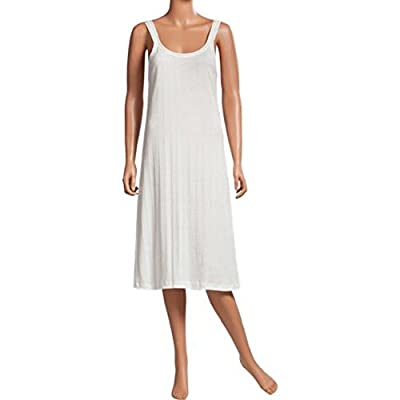 SofterSilk 100% Cotton Knit Full Slip or Nightie Featuring USA-Made Fabric (XL) White by
