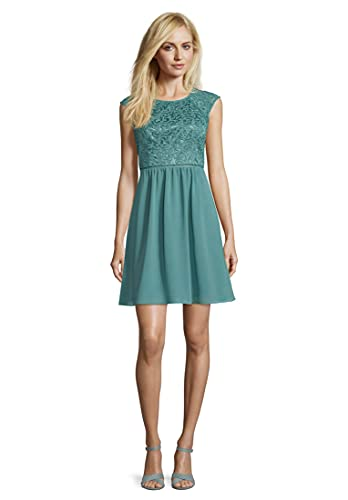 Vera Mont Damen 0101/4825 Kleid, Grün (Mint Leaf Green 5331), (Herstellergröße: 34)