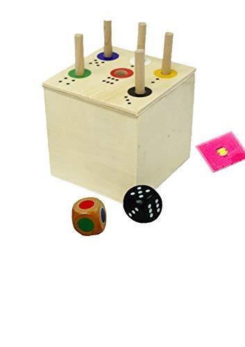 Spiel: Ab in die Box + Gratis 1 Minis Balance Spiel | Spaß für die ganze Familie und für Kinder ab 2 zum Lernen von Zahlen und Farben | Lernspiel | Würfelspiel | Reisespiele für unterwegs (Eckig)