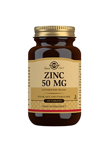 Solgar Zinc 50 mg Tablets - Pack of 100
