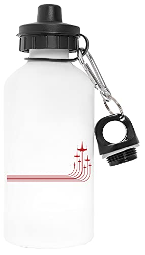 X-Wings Libre de Contaminantes Blanco Botella De Agua Aluminio Para Exteriores Pollutant Free White Water Bottle Aluminium For Outdoors