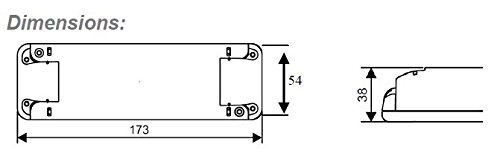 0W – 60W Dimmbar LED Treiber Konstant Voltzahl 12VDC, elektronischer LED-Trafo, Dimmable LED Driver, model TE60W, for 12Vdc LED tapes / strips and LED lamps - 2