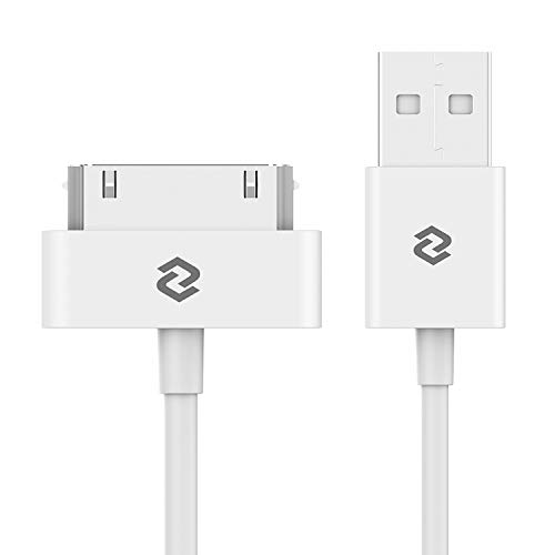 JETech Cable de Datos USB Compatible iPhone 4/4s, iPhone 3G/3GS, iPad 1/2/3, iPod, 1m, Blanco