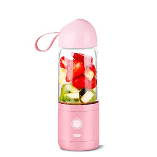 Mixer Smoothie Maker, Mini blender, 240 watt blender, Multifunctionele Ice Crusher koffiemolen, 25000u/min met 550 ml sportfles BPA-vrij, geschikt voor outdoor, reizen, werk, milkshake, sap, roze