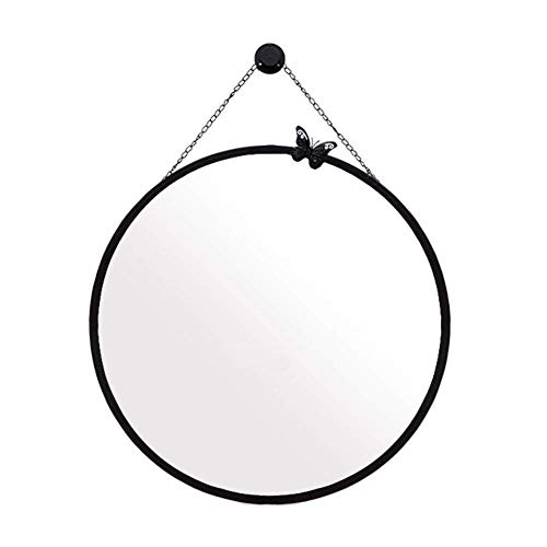Mirror Hanging,Metal Round Makeup with Hanging Chain,Bathroom Shaving,Metal Frame Shower,40/50/70/60cm (Size : 50cm)