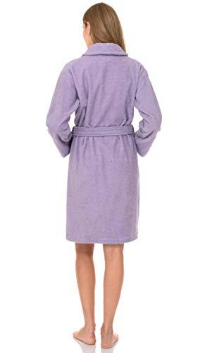 TowelSelections Women's Robe, Turkish Cotton Short Terry Bathrobe Large Purple Rose