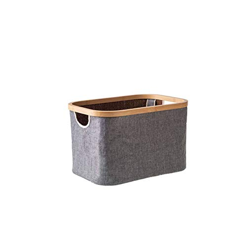 Faltbarer Schubladenorganisator , Dauerhaftigkeit Stoffkunst Platz Sparen Aufbewahrungstasche Passend Für Wohnzimmer Wandschrank Schlafzimmer-Quadrat ohne Abdeckung-grau