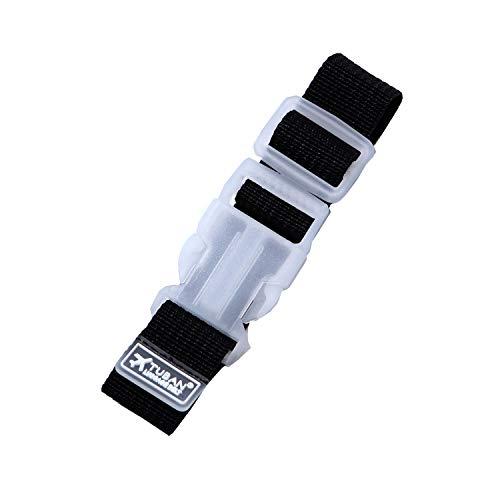 ロジック サブバッグ用 スーツケースミニベルト [簡単装着 旅行・移動時に便利] バックル式 トラベル用 バッグストッパー (全3色) ブラック